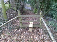 Repairs to broken stile near Stowey, 20th January 2017 (After)