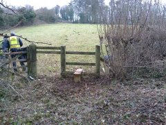 Reinstating previously disused stile by the main road near Stowey, 20th January 2017 (After)